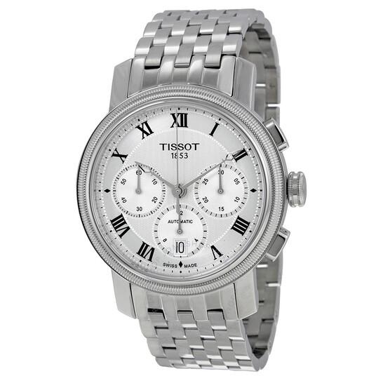 Tissot Bridgeport Automatic Chronograph Silver Dial Stainless Steel Men's Watch T097.427.11.033.00 | Joma Shop
