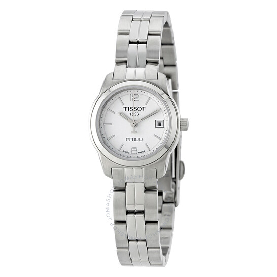 Tissot PR100 White Dial Stainless Steel Ladies Watch T0492101101700   Joma Shop