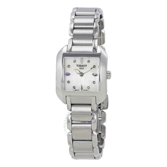 Tissot T-Trend T-Wave Mother of Pearl Diamond Ladies Watch T02.1.285.74   Joma Shop