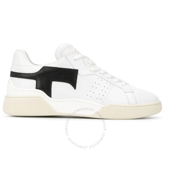Tod's Ladies White Leather Low Top Sneakers, Brand Size 35.5 (US Size 5.5)   Joma Shop