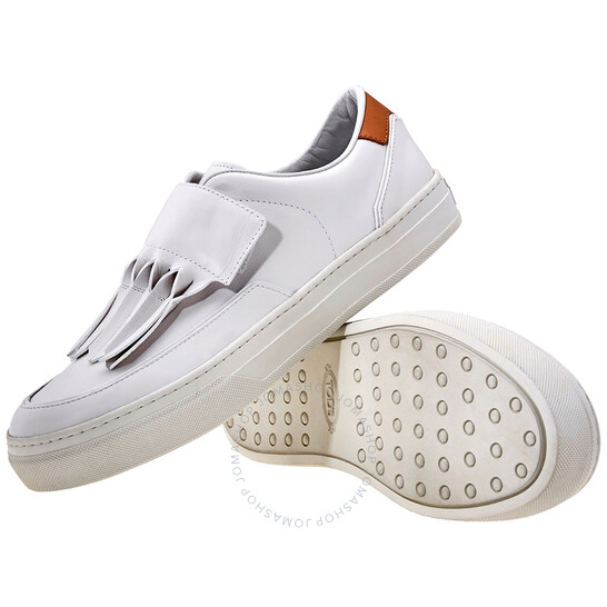 Tod's Womens Origami Fringed Sneakers White ( US Size Medium Peach, Brand Size 40 UK ( US Size 10 ) | Joma Shop