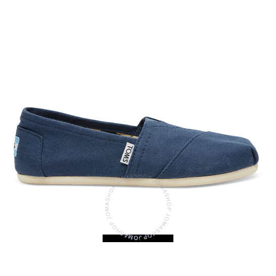 Toms Ladies Slip On Classic Alpargata Navy Canvas