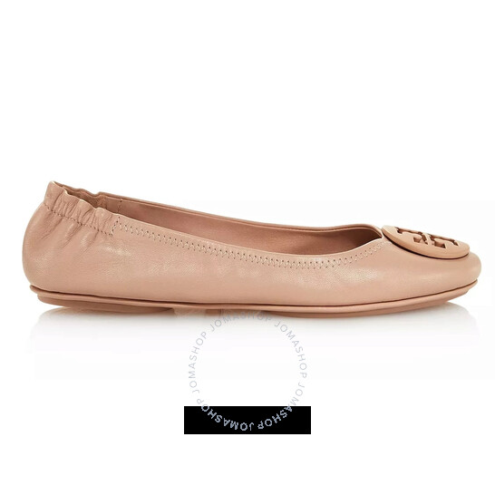 Tory Burch Ladies Leather Minnie Travel Ballet Flats, Brand Size 5 | Joma Shop