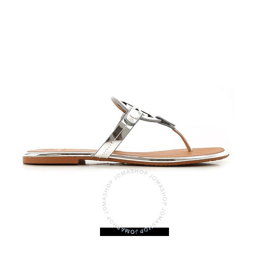 Tory Burch Ladies Miller Sandals in Metallic Leather, Brand Size 6 | Joma Shop