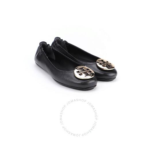 Tory Burch Perfect Black / Gold Minnie Ballerinas In Black, Brand Size 7   Joma Shop