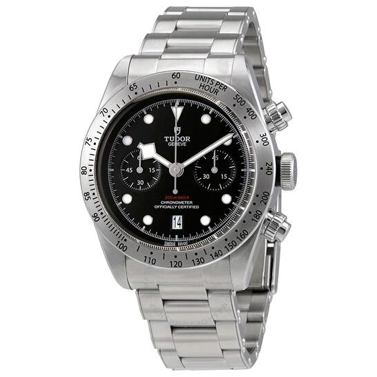Tudor Heritage Black Bay Chrono Chronograph Automatic Chronometer Black Dial Men's Watch M79350-0004 | Joma Shop