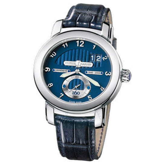 Ulysse Nardin Anniversary 160 Blue Dial 18kt White Gold Blue Leather Men's Watch 1600-100 | Joma Shop