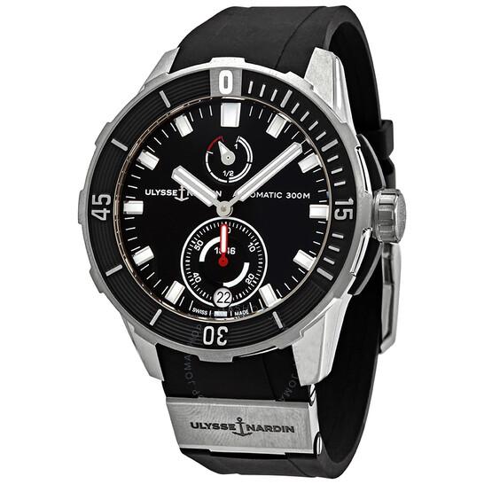 Ulysse Nardin Diver Chronometer Automatic Black Dial Men's Watch 1183-170-3/92   Joma Shop