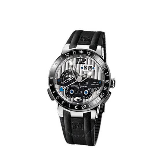 Ulysse Nardin El Toro GMT Silver Dial Platinum Black Rubber Men's Watch UN329-00-3 | Joma Shop