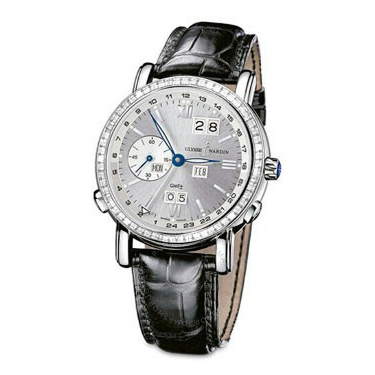Ulysse Nardin GMT Perpetual Silver Dial Leather Strap Automatic Men's Watch 320-89BAG-31 | Joma Shop