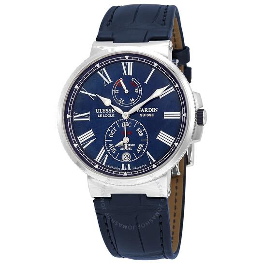 Ulysse Nardin Marine Chronometer Automatic Blue Dial Men's Watch 1133-210/E3 | Joma Shop