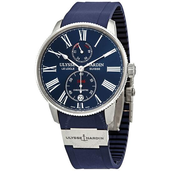 Ulysse Nardin Marine Torpilleur Automatic Chronometer Blue Dial Men's Watch 1183-310-3/43 | Joma Shop