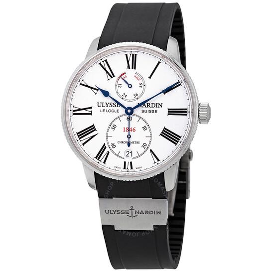 Ulysse Nardin Marine Torpilleur White Dial Automatic Men's Watch 1183-310-3/40   Joma Shop