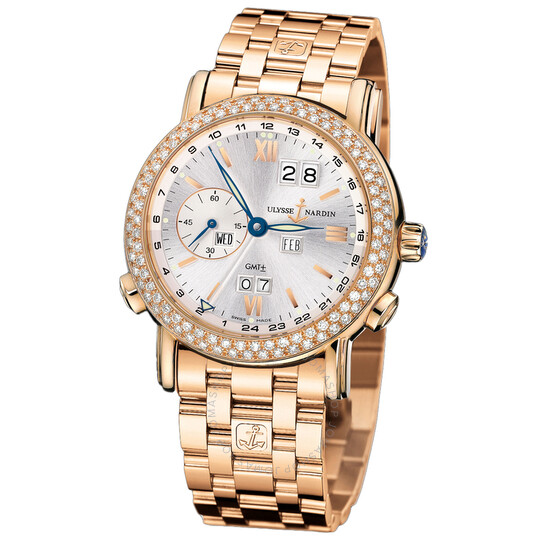 Ulysse Nardin Perpetual Silver Dial 18kt Rose Gold Men's Watch 326-28-8 | Joma Shop