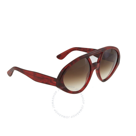 Valentino Army Green Rectangular Unisex Sunglasses V670SC 309 53 V670SC 309 53