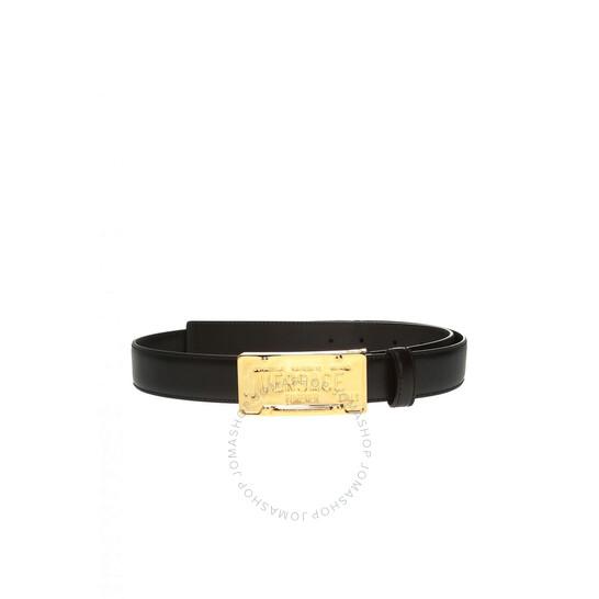 Versace Black With Logo Buckle