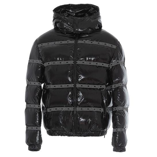 Versace Logo Detail Puffer Jacket