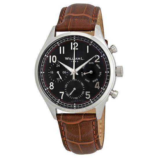William L 1985 Vintage Black Dial Men's Watch WLAC03NRCM   Joma Shop