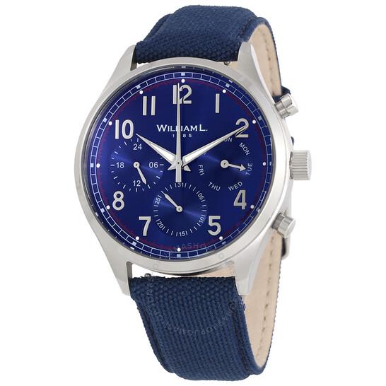 William L 1985 Vintage Blue Dial Men's Canvas Watch WLAC03BUCAB | Joma Shop