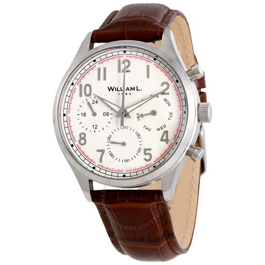 William L 1985 Vintage Multfunction White Dial Men's Watch WLAC03BOCM | Joma Shop