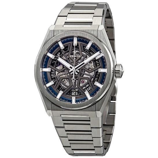 Zenith Defy Classic Automatic Skeletal Dial Titanium Men's Watch 95.9000.670/78.M9000 | Joma Shop