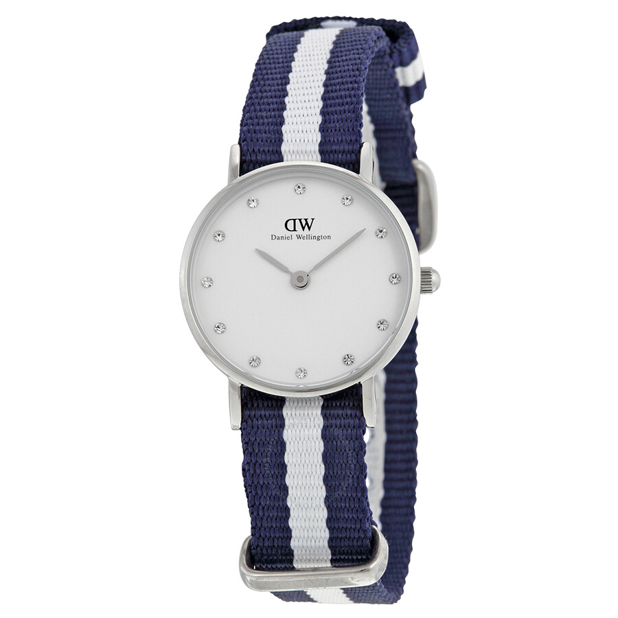 Daniel wellington classic glasgow blue and white nato for Classic house wellington