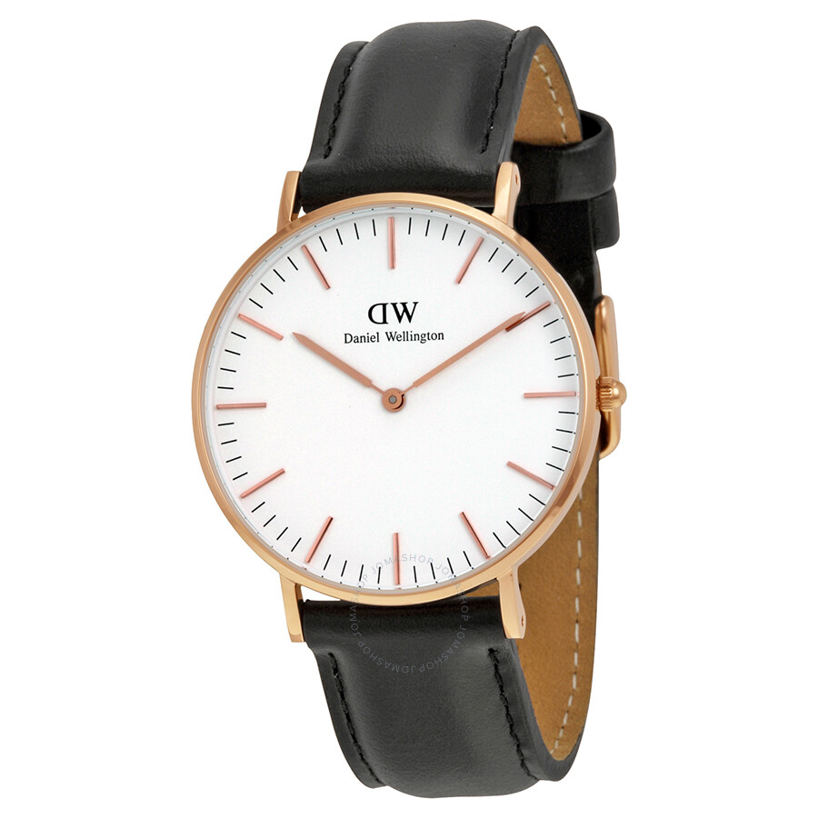 0d573e40f37b6 Daniel Wellington Classic Sheffield White Dial Ladies Watch 0508DW ...