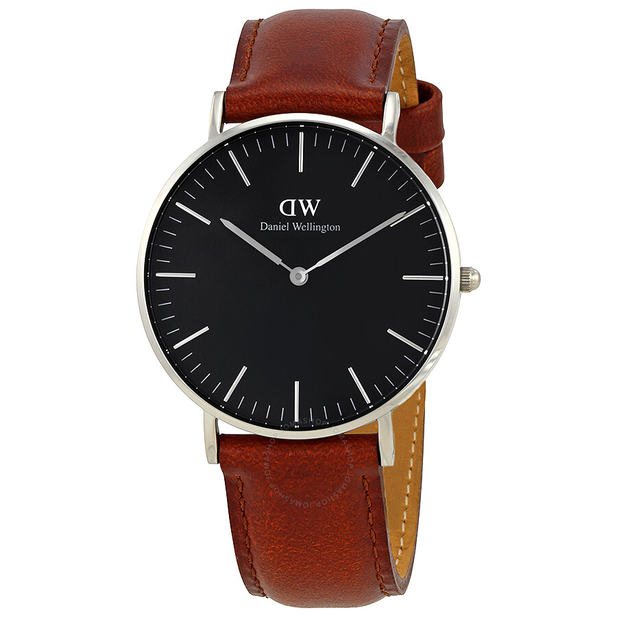 daniel wellington classic st mawes black dial 36mm watch dw00100142 daniel wellington. Black Bedroom Furniture Sets. Home Design Ideas