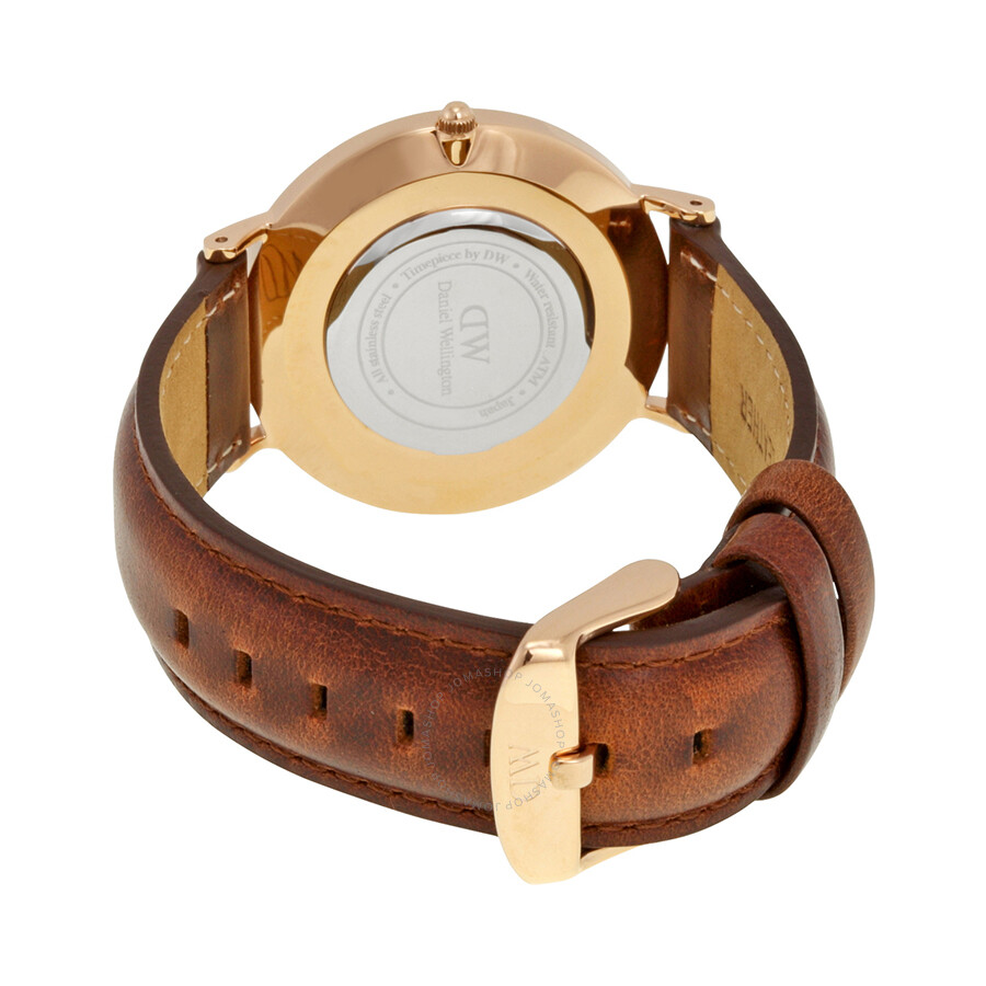 afe71431f0677 ... Daniel Wellington St Andrews White Dial Brown Leather Ladies Quartz  Watch 0507DW