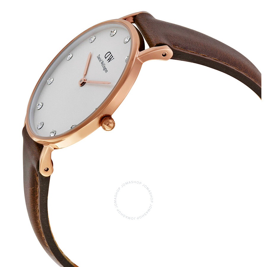 Daniel wellington classy st mawes white dial ladies watch for Classic house wellington