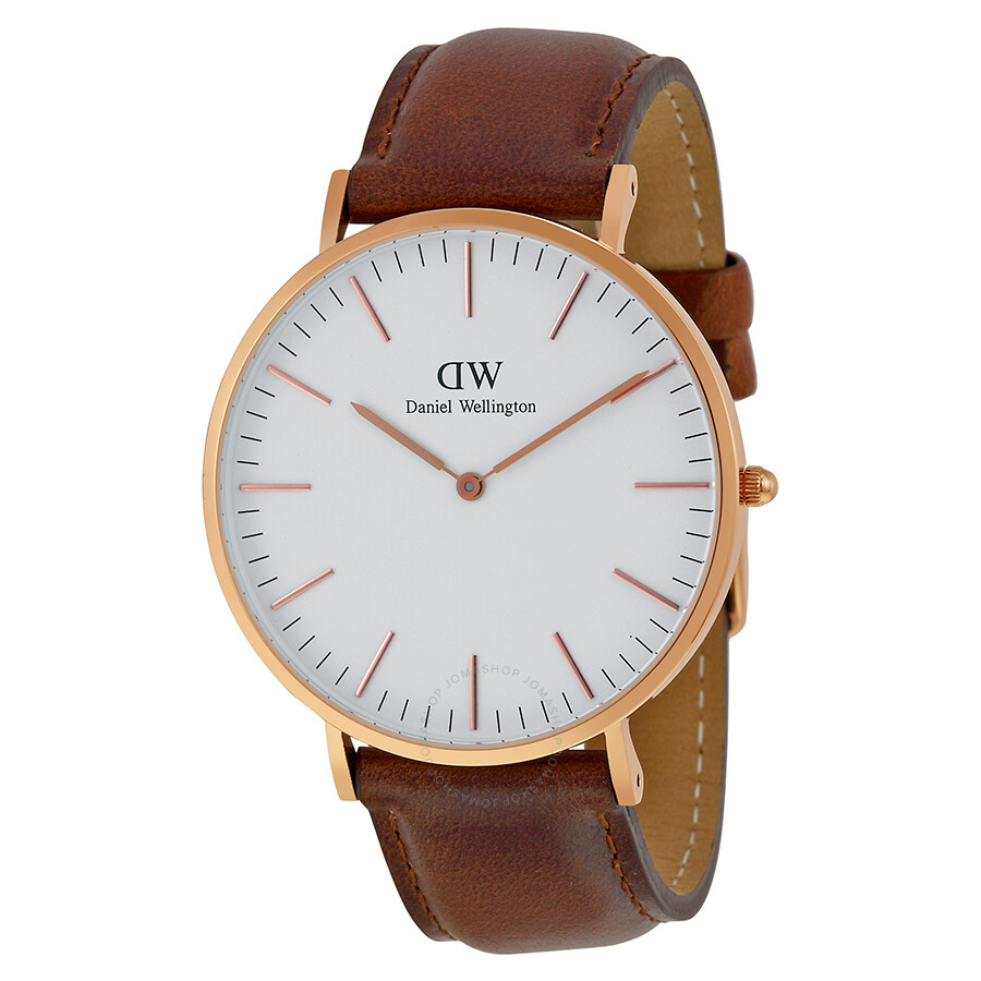 daniel wellington classic st mawes white dial men 39 s watch 0106dw daniel wellington watches. Black Bedroom Furniture Sets. Home Design Ideas