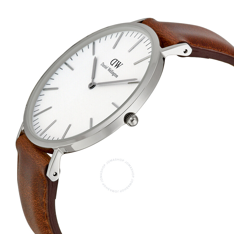 daniel wellington classic st mawes white dial brown leather men 39 s watch 0207dw daniel. Black Bedroom Furniture Sets. Home Design Ideas