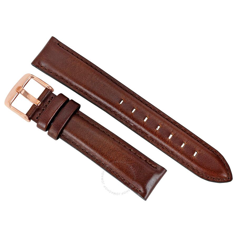 daniel wellington dapper st mawes brown leather watch band. Black Bedroom Furniture Sets. Home Design Ideas