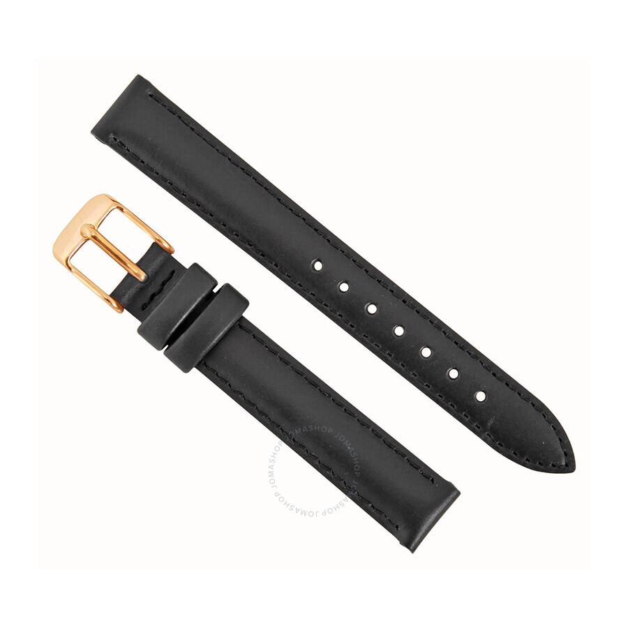 Daniel Wellington Sheffield 13MM Black Leather Watch Band ...