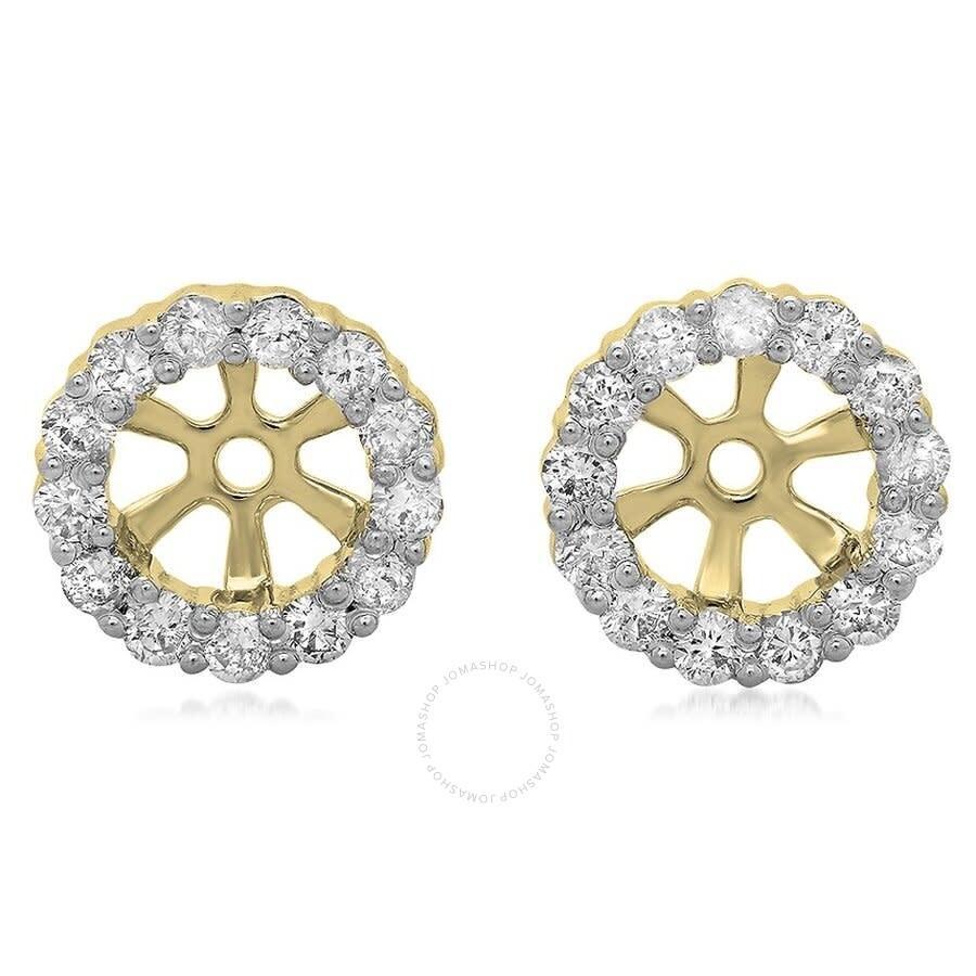 1//2 ctw Natural Diamond Round cut Cluster Pendant in 14K White Gold 0.50 carat ctw