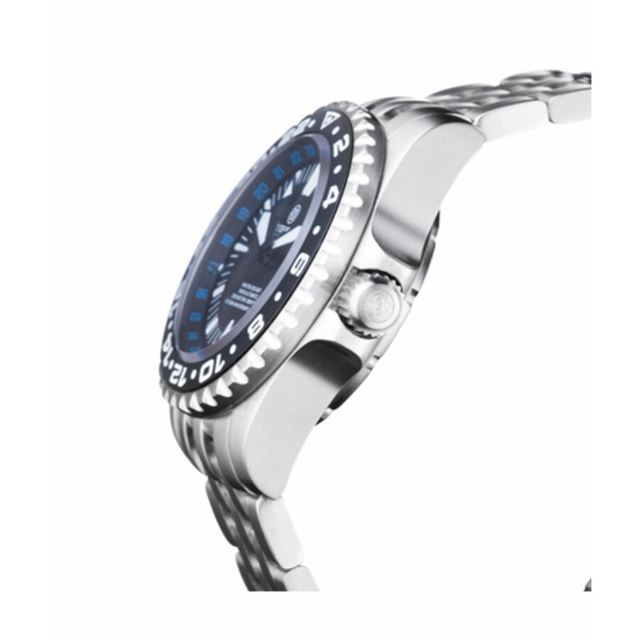 511e96b3ac1 Deep Blue Master 2000 GMT Automatic Black Dial Batman Bezel Watch  M2KGMTBATMANBLUE