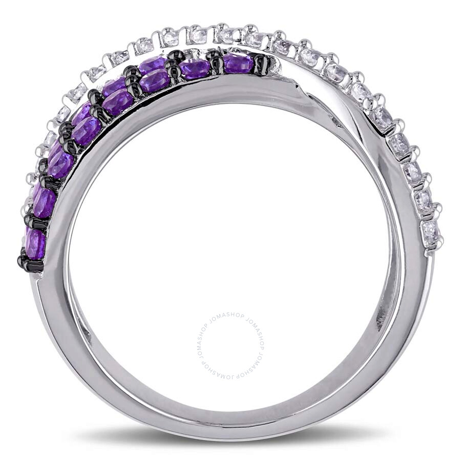 tgw silver white and ct amour created amethyst size ring delmar in sapphire band anniversary sterling