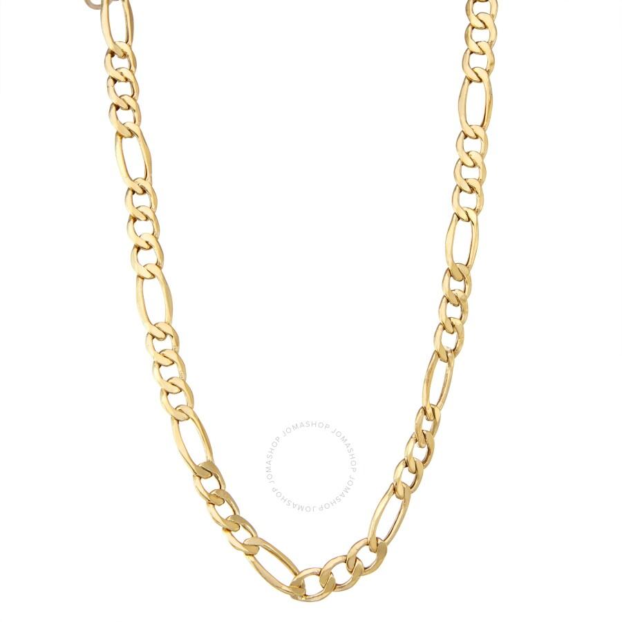 3b636063a Diamante 14k gold Men's figaro chain necklace - Mens Jewelry ...