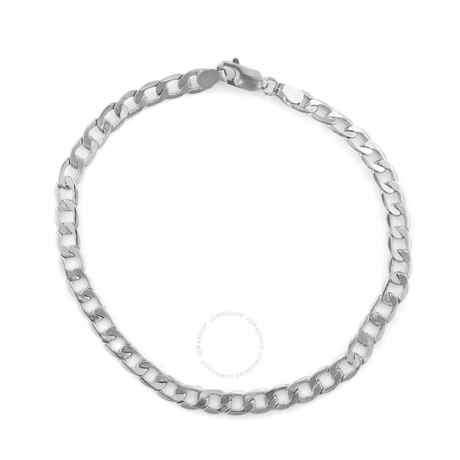 Diamante 14k White Gold Men S Cuban Curb Bracelet