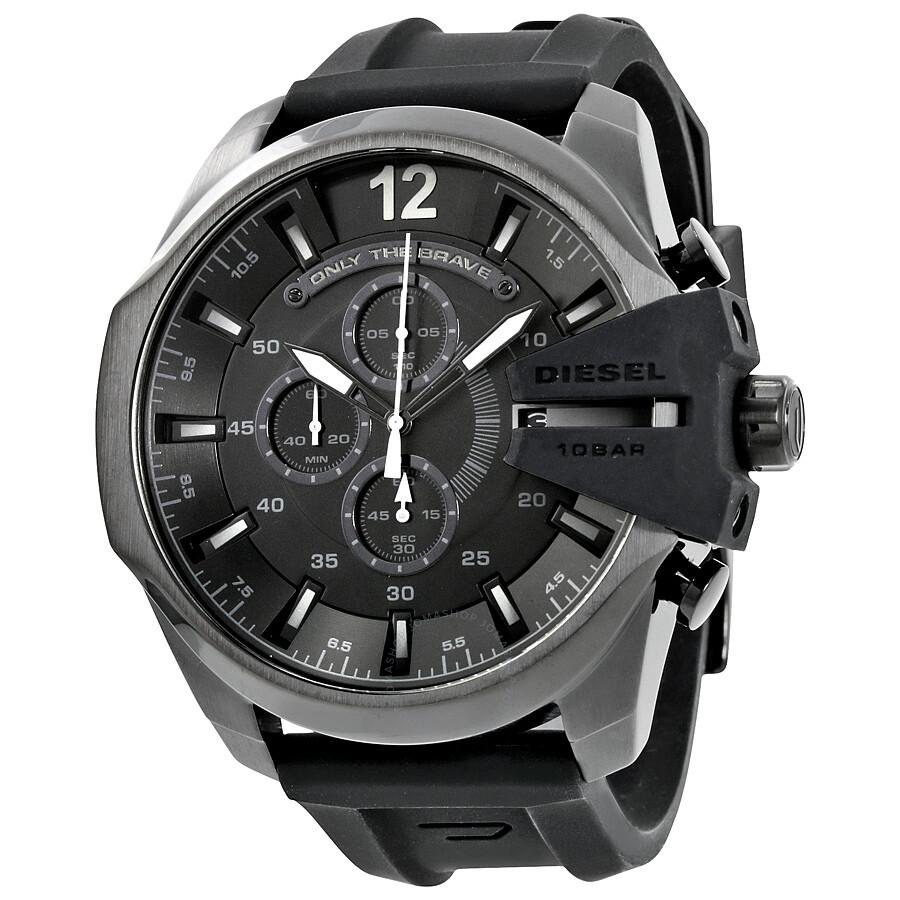 diesel chief black dial black silicone men s chronograph watch diesel chief black dial black silicone men s chronograph watch dz4378