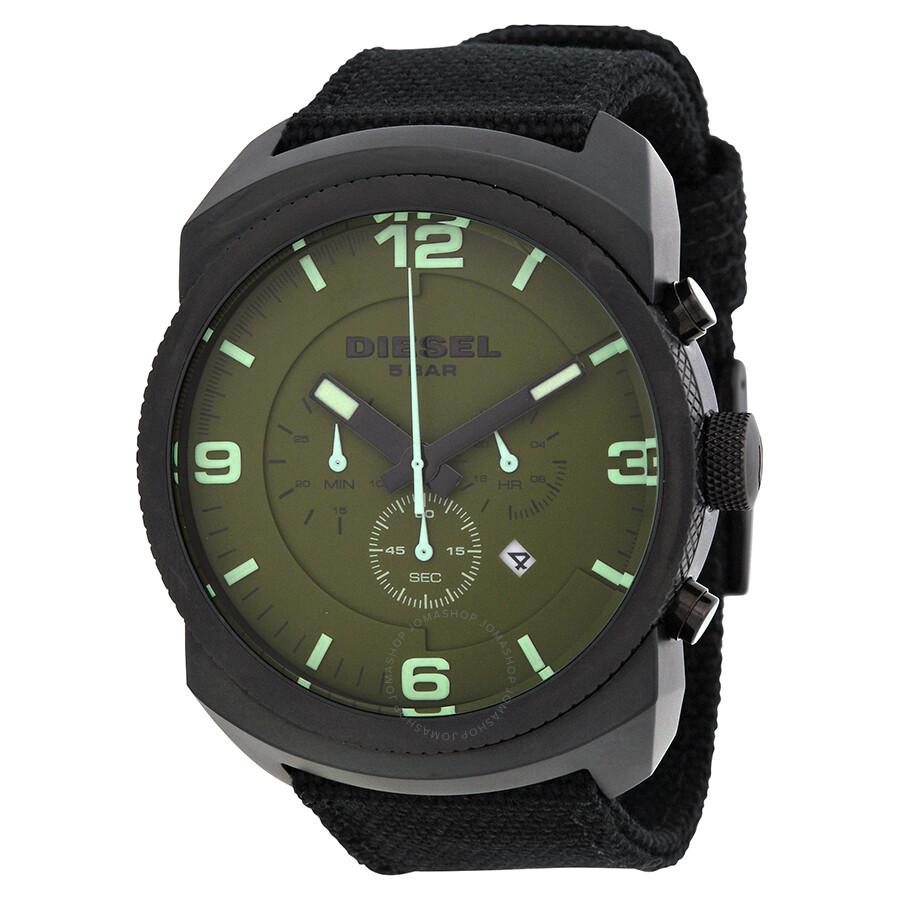 Diesel Chronograph Olive Dial Men's Watch DZ4194 ...