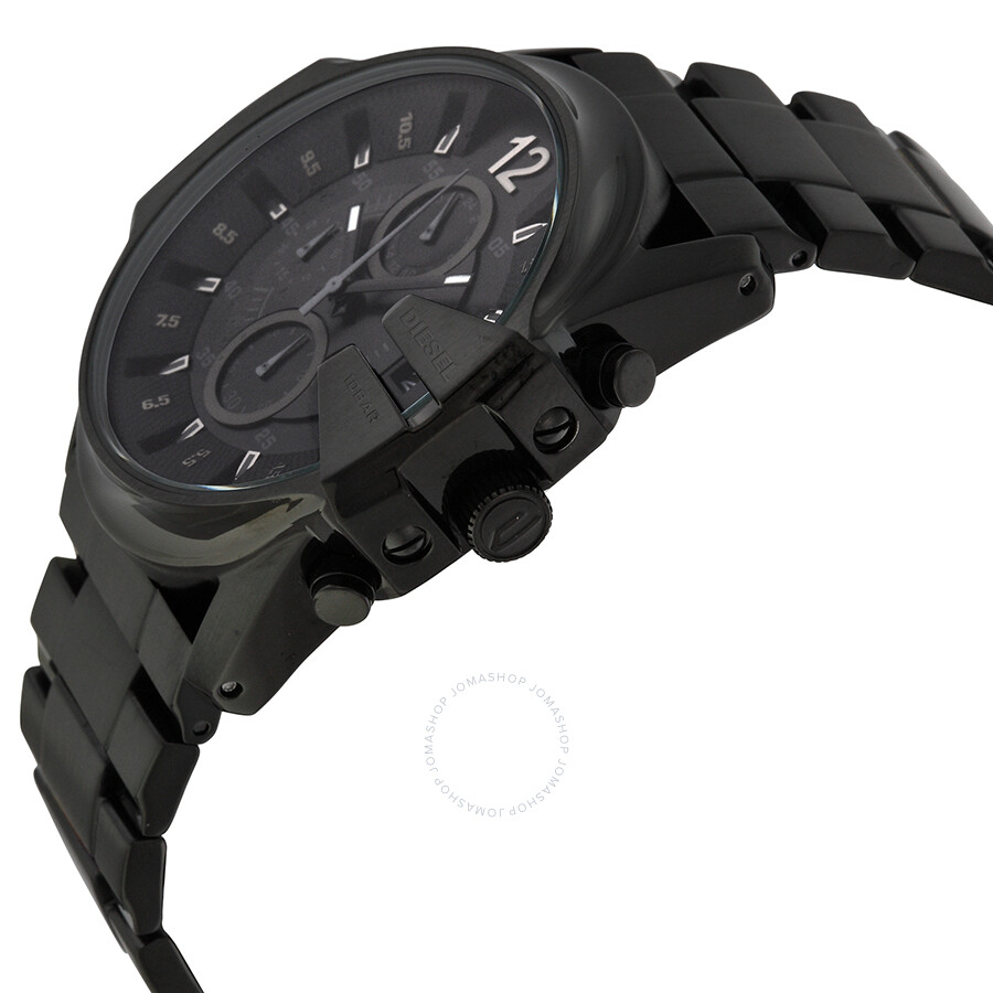 535acf2591a ... Diesel Master Chief Black Dial Black Stainless Steel Bracelet Men s  Watch DZ4180 ...