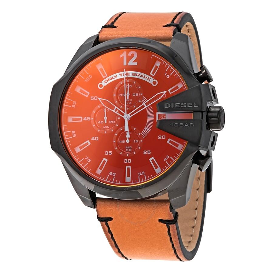 91a0fe77a Diesel Mega Chief Black Dial Men's Chronograph Watch DZ4476 - Diesel ...