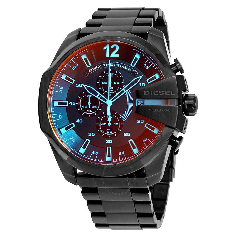 Diesel Mega Chief Black Ion-plated Stainless Steel Men s Watch DZ4318 ... 6f1682ff27d