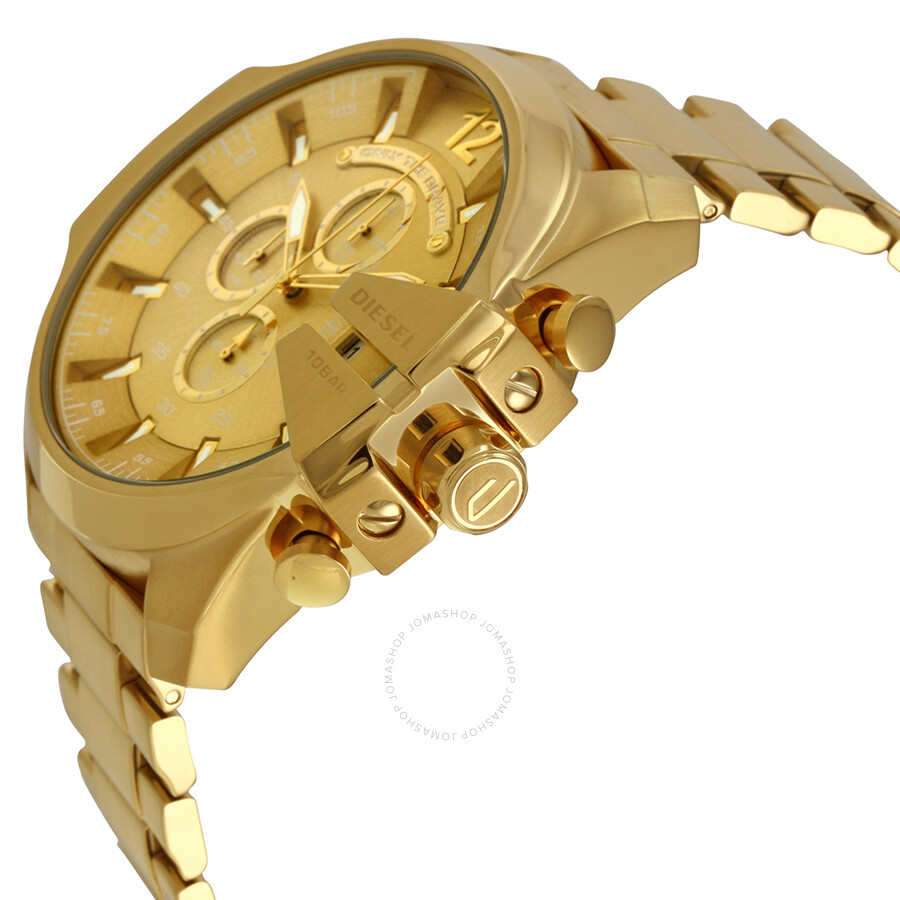 diesel mega chief chronograph champagne dial men s watch dz4360 diesel mega chief chronograph champagne dial men s watch dz4360