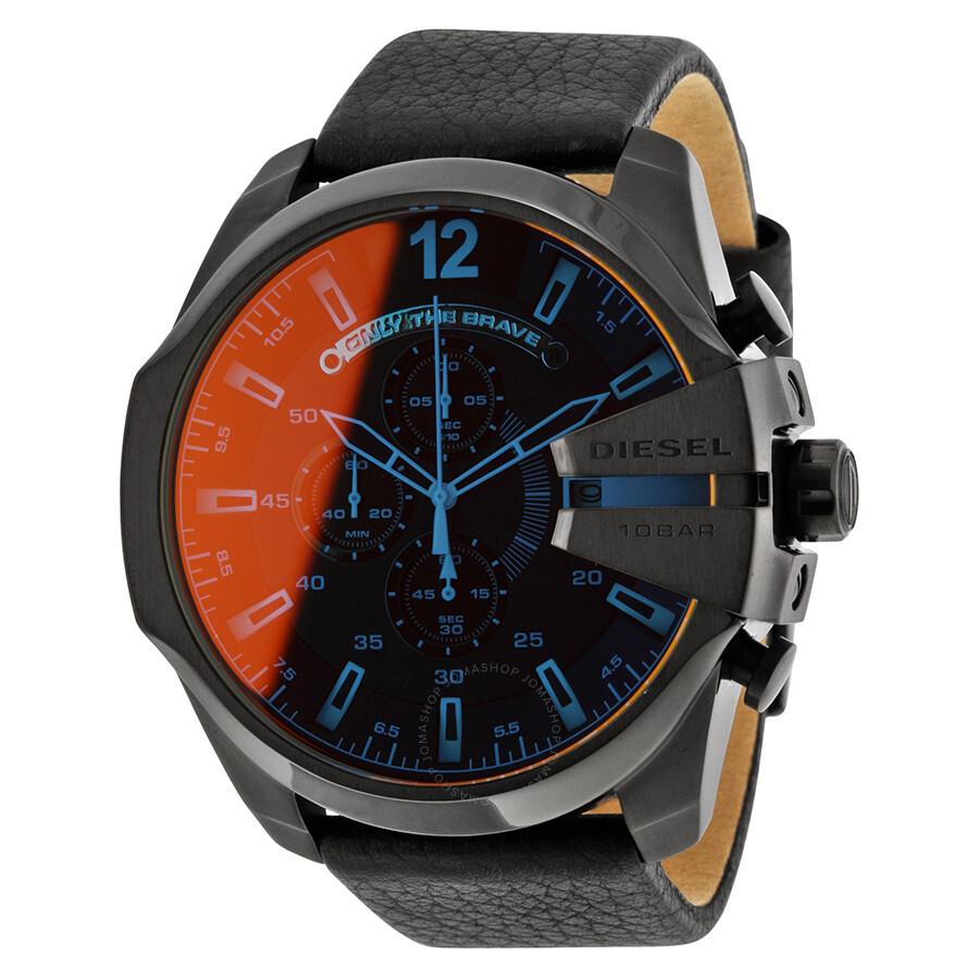 Diesel Mega Chief Chronograph Black Dial Men s Watch DZ4323 - Diesel ... 45f7e4ce56e