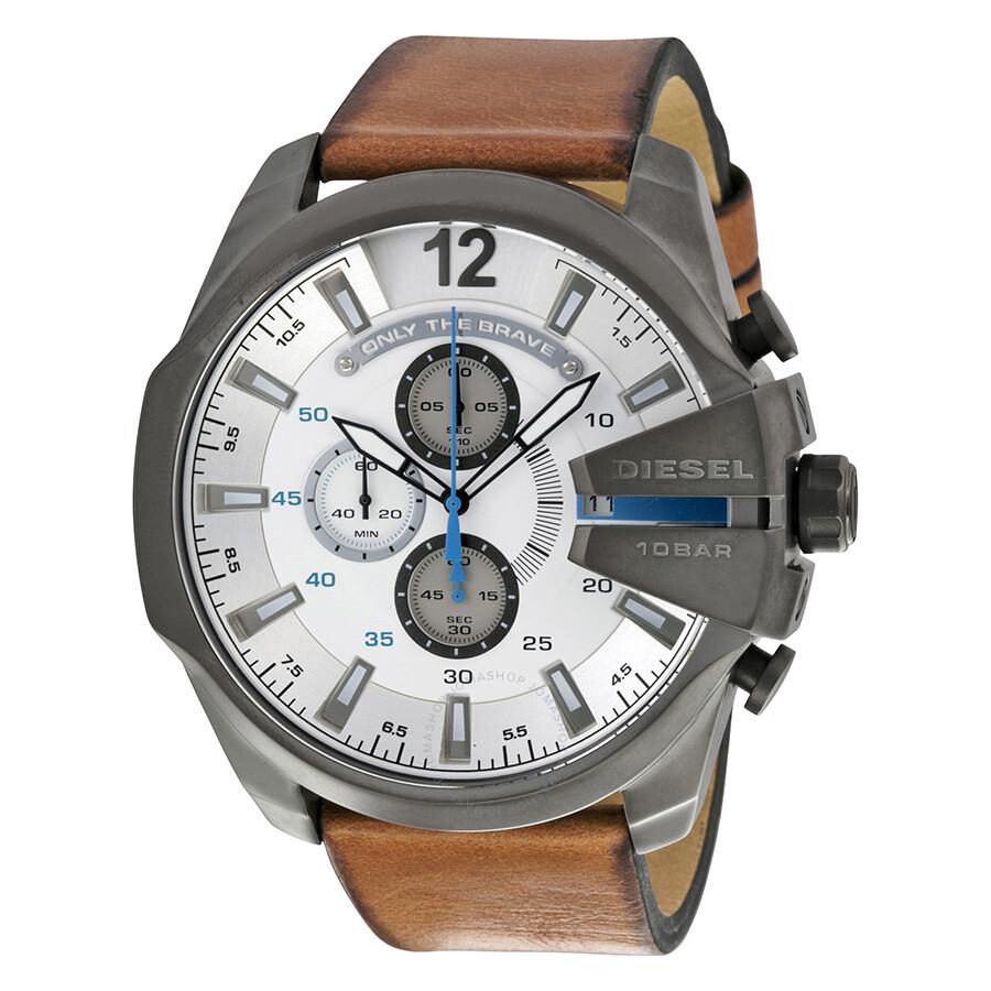 c0e86ab24 Diesel Mega Chief Chronograph Gunmetal IP Stainless Steel Men's Watch  DZ4280 ...