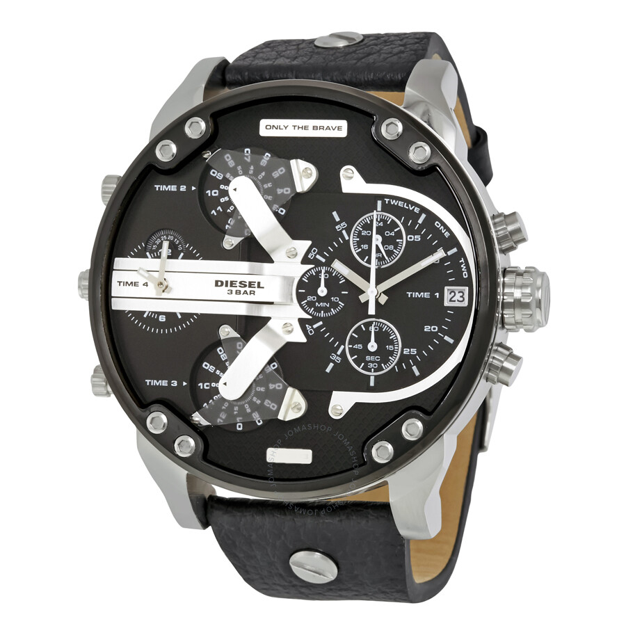 diesel mr daddy 2 0 black dial men 39 s chronograph watch. Black Bedroom Furniture Sets. Home Design Ideas