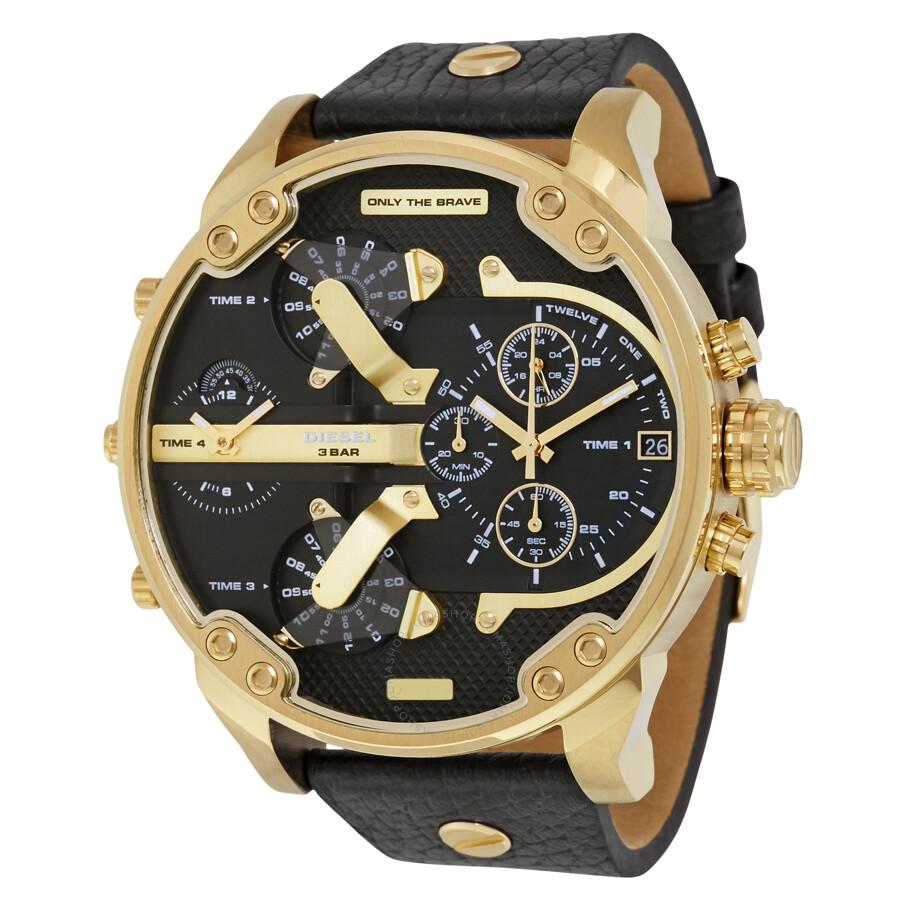 diesel watches jomashop diesel mr daddy 2 0 black dial men s chronograph watch