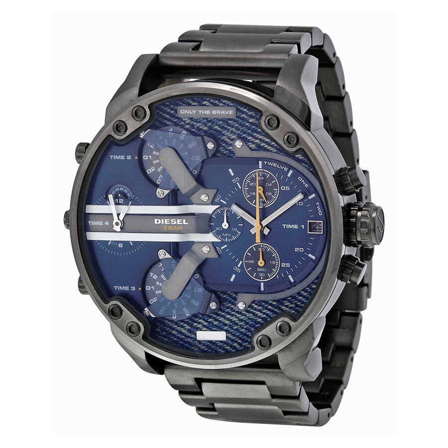diesel mr daddy 2 0 blue dial quartz men 39 s watch dz7331. Black Bedroom Furniture Sets. Home Design Ideas
